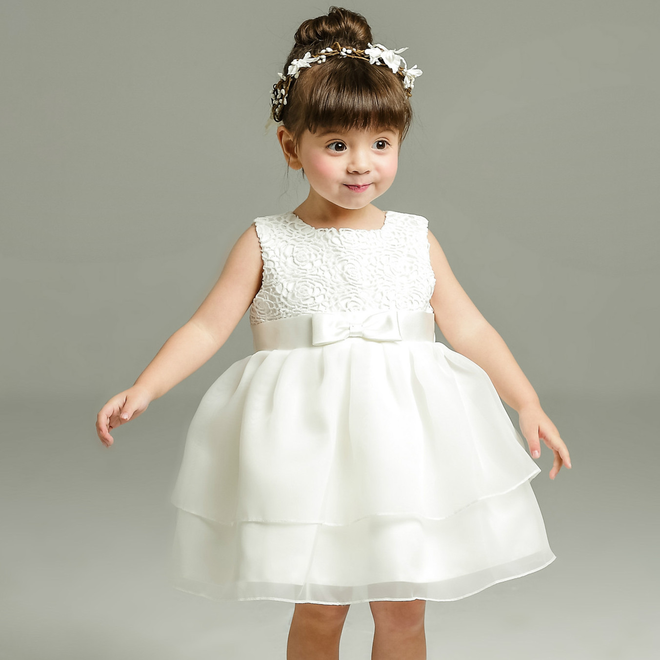 Buy 1 year old baby girl dress beige for Toddler dress for wedding