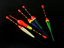 10PCS Mixed Color Fishing Float Buoy Bobber Pond Fishing Tackle with Free Tackle Box + Hooks Combo