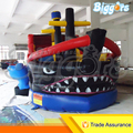Inflatable Biggors Outdoor Large Inflatable Recreation Shark Ship Bounce House PVC Commercial Use