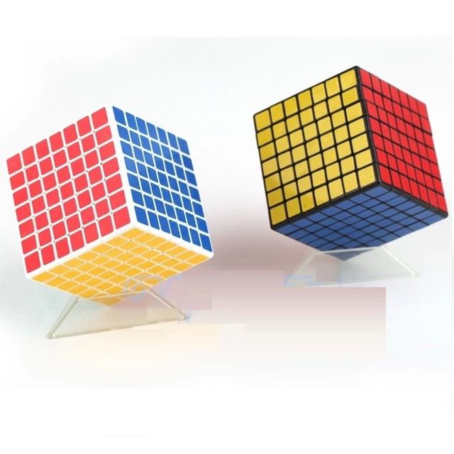 ShengShou 7x7x7 Cubo de la Velocidad Negro/Blanco Récord Mundial de Velocidad Twisty Puzzle Cubo Mágico de Inteligencia Interesante Juguetes educativos