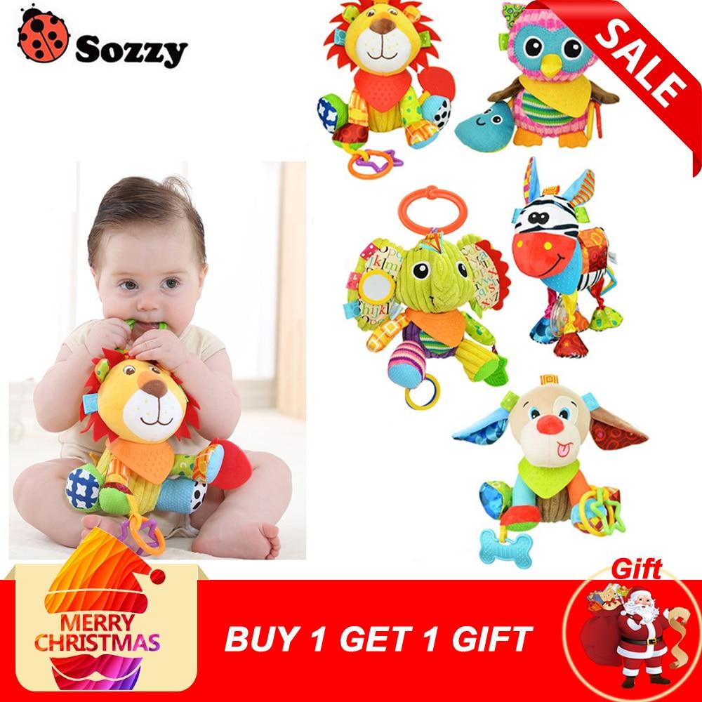 Sozzy Multifunctional Baby Toys Rattles Mobiles Soft Cotton Infant Pram Stroller Car Bed Rattles Hanging Animal