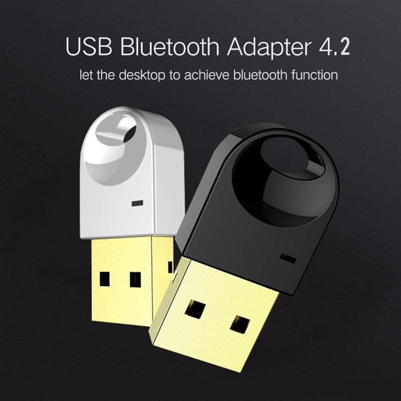 Luxo Sem Fio Bluetooth USB Adapter Para Computador fone de Ouvido Sem Fio Bluetooth Speaker 4.2 Motorista Livre Receptor Dongle Bluetooth