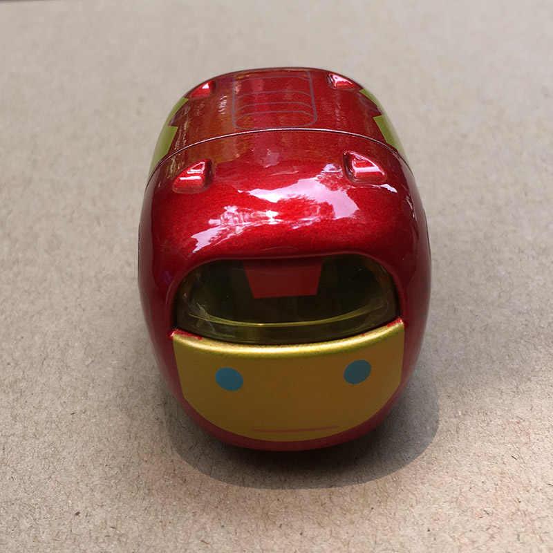 5cm Tsum Tsum Car Aluminum Alloy Super Heros Iron Spider Man Captain  America Mini Moving Auto Toy For Birthday Christmas Gift