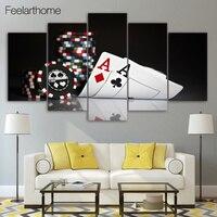 HD Impresso Pintura de poker room decor impressão imagem do cartaz da lona das crianças Frete grátis/ny-2881