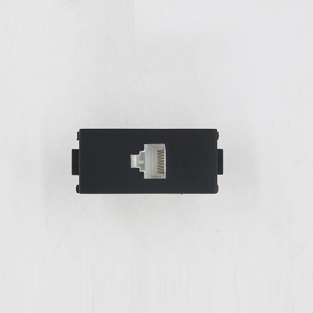 Black Color RJ45 5e Network Socket Cat5 Push Wire Ethernet Slot Wall ...