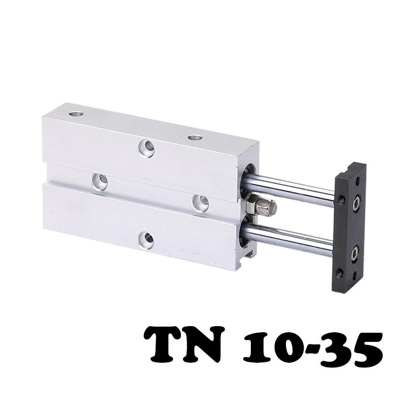 TN 10-35 Double rod, double shaft cylinder, 10mm caliber 15mm aluminum alloy standard cylinderTN 10-35 Double rod, double shaft cylinder, 10mm caliber 15mm aluminum alloy standard cylinder