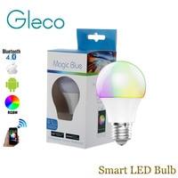 Bluetooth LED Ampoule E27 RGBW 4.5 W Bluetooth 4.0 Intelligent LED Lumière Ampoule Minuterie Couleur modifiable par IOS/Android APP