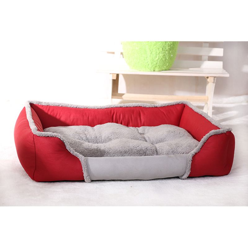 US $18.23 15% OFF|Soft Pet Dog Bed House Warm Cat House High Quality Felt  PP Cotton Dog Sofa Detachable Mat Pad Pet Products for Small Large Dogs-in  ...