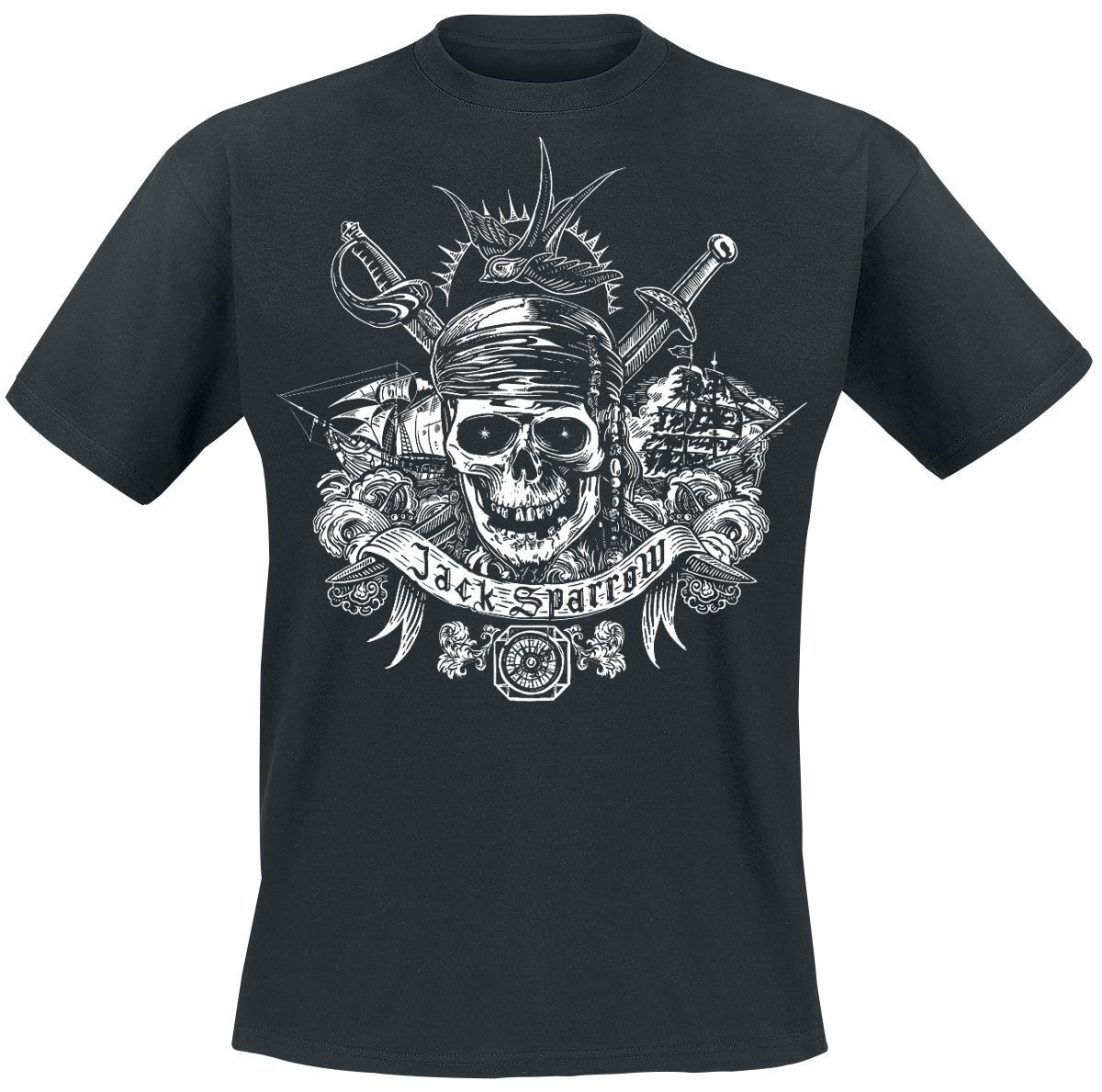 Pirates Of The Caribbean Sparrow Classic T-Shirt black