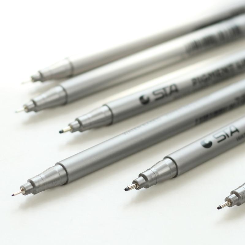 6 հատ / Lot Միկրո գծի նշման գրիչ մանգայի - Գրիչներ, մատիտներ և գրելու գործիքներ - Լուսանկար 4