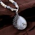 2016 Bohemian jóias étnicas gargantilha colar Vintage pavão Opal declaração de colares longo Collier mulheres colar