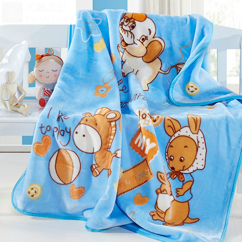 Free Shipping Infant Children Cartoon Thick Coral Cashmere Blankets Baby Nap Blanket Baby Quilt Size Is 110*135 cm T01