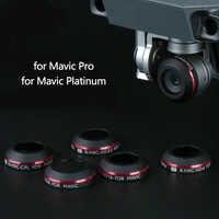 Filtro de lente Super Light UV ND4 ND8 ND16 CPL para cámara DJI Mavic Pro Platinum filtro para Dron polarizador filtros de densidad neutra