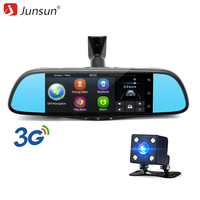 Junsun 7 Touch Special Car DVR Camera Mirror GPS Bluetooth 16GB Android 4 4 Dual Lens