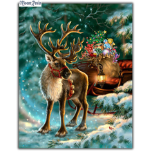 MOONCRESIN 3D Diy Diamond Embroidery Christmas Elk Gift Diamond Mosaic Full Diamond Painting Cross Stitch Decoration Handicrafts mooncresin 3d diy diamond embroidery christmas elk gift diamond mosaic full diamond painting cross stitch decoration handicrafts
