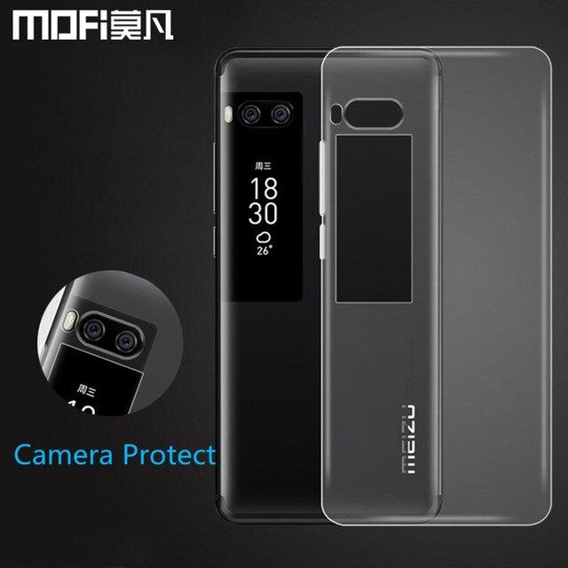 Meizu Pro 7 Чехол pro7 задняя крышка Силиконовые Мягкий ТПУ телефон САППУ Прозрачный Ultra Clear MOFI оригинальный Meizu Pro 7 Plus