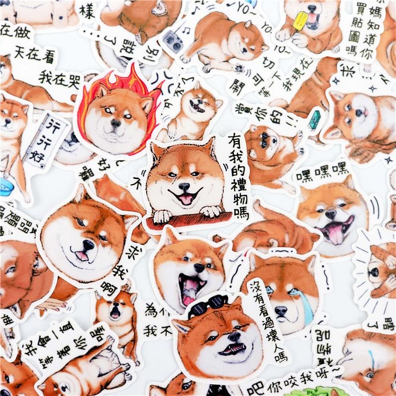 40pcs Creative Kawaii Self-made Cartoon Shiba Inu Dog Stickers/ Beautiful Stickers /Decorative Sticker /DIY Craft Photo Albums