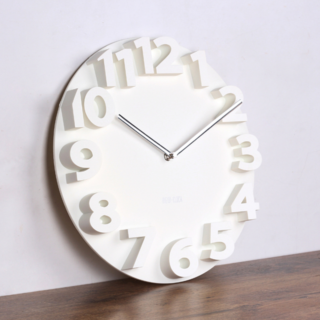 Big 3d Round wall clock digital large decorative wall clock modern design silent hang on wall murale kitchen watch home decor