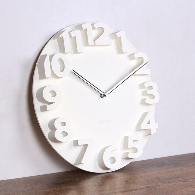Lớn Số 3d đồng hồ treo tường kỹ thuật số lớn trang trí đồng hồ treo tường thiết kế hiện đại im lặng treo trên tường nhà bếp xem chủ trang trí nội thất