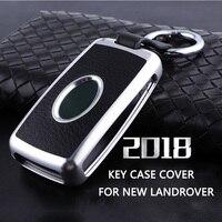 Car Key case Cover Shell fob Holder Key ring For 2018 Land Rover Range Rover Sport Evoque Velar Discovery 5 for new land rover