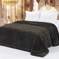 CLORIS Comforter Luxury Bedspread 160x220cm High Quality Royal Plaid Artificial Fur Warm Bedspread On Bed Comforter Blanket Gift