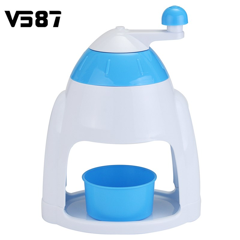 Ice Crusher Shaver Manual Grinding Plastic Snow Cone Maker Machine House Home Party DIY Ice Cream Candy Frappe