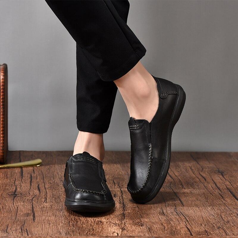 Costura Moda Couro Respirável brown Mocassins Artesanal Suave Luxo Sociais Designer L5 Genuíno Black Marca Homens Sapatos De CwvYqSxS