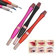 Tebori Microblading Pen Eyebrow Tattoo Manual Machine Needle Blades Holder Permanent Makeup 3D Eye Brow Lip Tebori Munsu