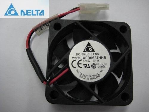 Delta AFB0524HHB 5cm 50mm 24V 0.12A dual ball bearing fan server 5015 50x50x15mm 5cm delta new 14050 24v2 3a ffb1424shg super wind 14cm dual ball bearing cooling fan 140 140 50mm