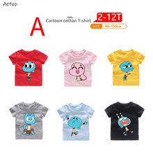 7e702076 Los niños de dibujos animados el asombroso mundo de gumball: T camisa niños  niñas de manga corta gran verano Tops niños casuales.
