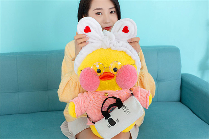50cm Big Size Lalafanfan Plush Stuffed Toys Kawaii Cafe Mimi Yellow Duck Plush Toys Girls Lovely Decoration Toys For Children 3