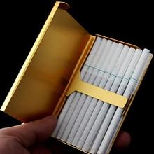 20 палочек, тонкая модная трубка, креативный индивидуальный чехол для сигарет, тонкий женский металлический чехол для сигарет, сигаретная ко...