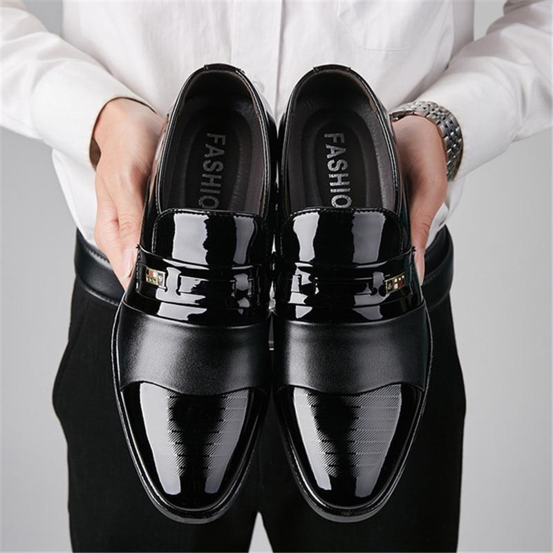 Fashion Business Dress Men Shoes 2019 New Classic Leather Men'S Wedding Suits Shoes Fashion Men Oxfords Chaussures Hommes En Cui