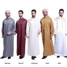 2018 Arabic Islamic Clothing Men Saudi Arabia Pakistan Kurta Abaya Musulman Thobe Dress Man Dubai Kaftan Homme