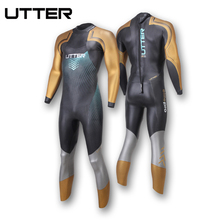 UTTER Elitepro Mens Gold SCS Triathlon Suit Yamamoto Neoprene Swimsuit Long Sleeve Surfing Wetsuit Swimming Suits for Swimwear