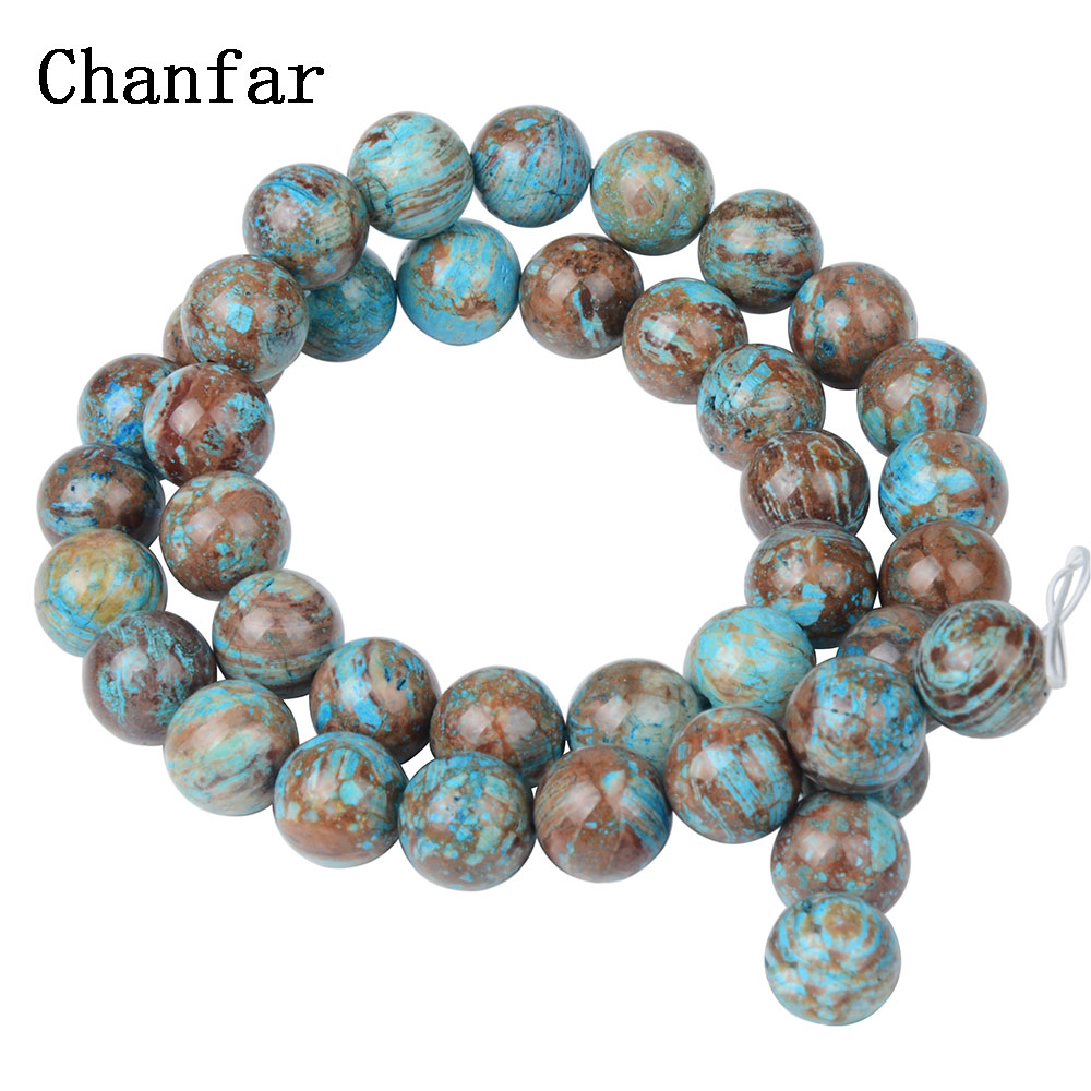 Bulk Loose Multi- Blue vein Natural stone Beads Women Jewelry Fashion Making Beads 4 6 8 10 12mm