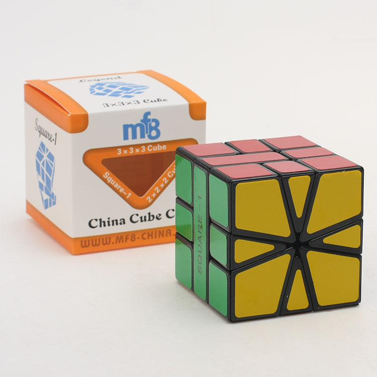 Amiable New Version Mf8 Square-1 55mm Flabellate 3x3 Speed Magic Cube Puzzle Black And White Educational Toy Special Toys sq1,v3