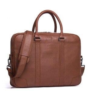 100% Genuine Luxury Leather Briefcase Men Bag Business Handbag Male Laptop Shoulder Bags Tote Natural Skin Men Briefcase