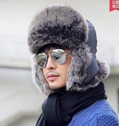 Лэй фэн мес хан издание прилив в зимнего жи мужчина наушники на открытом воздухе цоколь hat велоспорт hat натуральный мех мешок почты