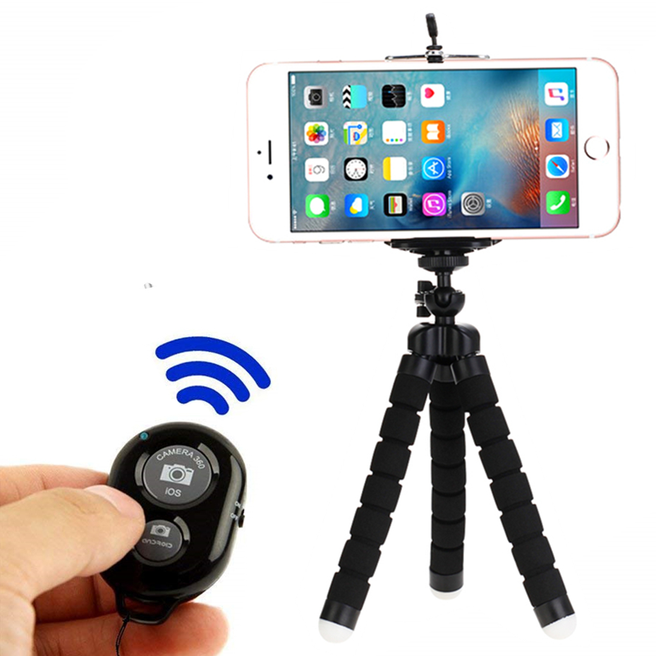 Selfie Sticks tripod for phone mini bluetooth Shutter Release smart remote control monopod tripod for phone with remote image
