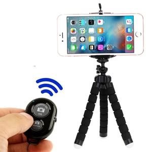 Image 1 - Selfie מקלות חצובה עבור טלפון מיני bluetooth תריס שחרור חכם שלט רחוק חדרגל חצובה עבור טלפון עם מרחוק