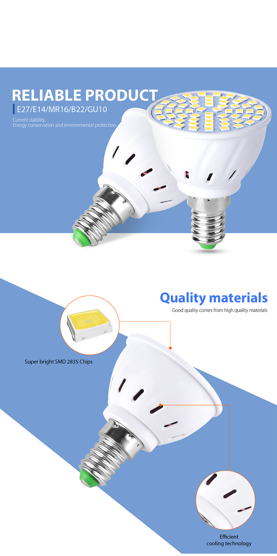 Led Bulbs & Tubes Gu10 Led Spot Light Bulb E27 220v Led Corn Lamp E14 Smd 2835 48 60 80leds Gu5.3 Bombillas Led B22 Focus 230v Ampoule Led Maison For Sale Light Bulbs