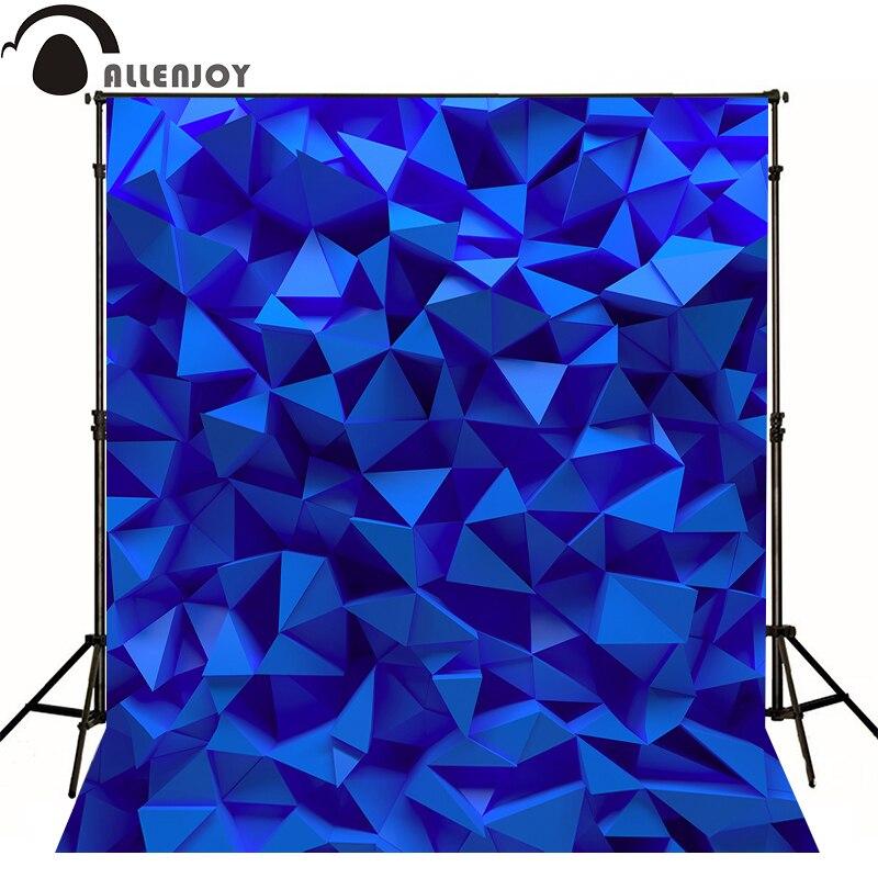 Allenjoy Professional photography background 3D art blue diamond newborn vinyl fabric 8x8 10x20 fashion backdrops