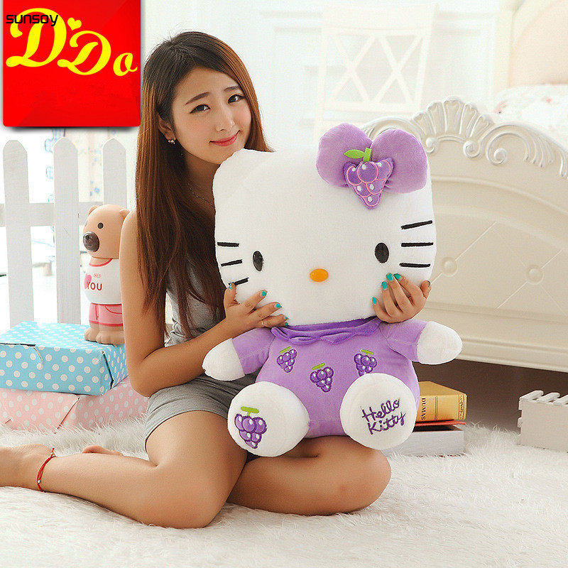 New Arrival Sitting Height 30CM Hello Kitty Plush Toys Hello Kitty Toys Super Lovely BabyDoll Classic Toys For Girls Kids Gift