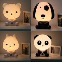 New EU US Plug Kids Bed Lamp Night Sleeping Lamp With Panda Rabbit Dog Bear Shape