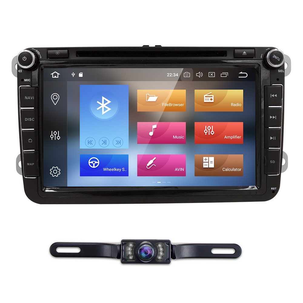 Android 8.0 Octa Core Car DVD GPS Navi for Volkswagen VW Skoda Octavia golf 5 6 touran passat B6 jetta polo tiguan player audio