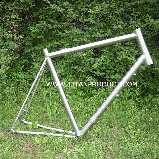 Marco Titanium camino de la bicicleta con S & S acoplador, freno de ...