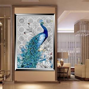30 * 40 cm 5d الماس التطريز diy جميلة الأزرق - الفنون والحرف والخياطة