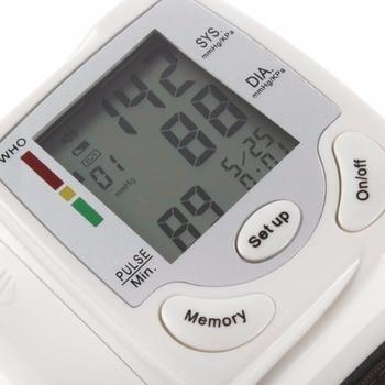 LCD Display Blood Pressure Monitor Automatic Digital Pulsometer Wrist Pulse Meter Family Diagnostic-tool Heart Beat Rate Measure 3