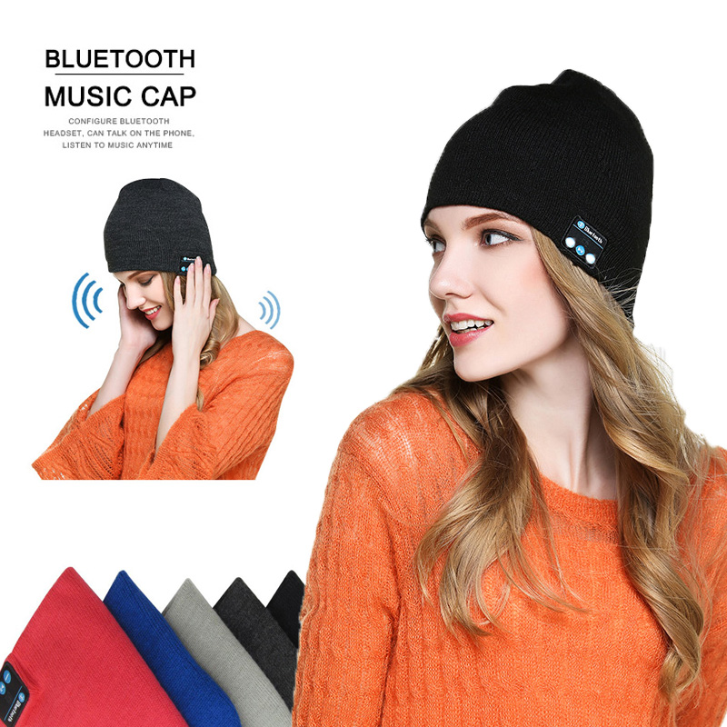 DAONO Wireless Bluetooth headphones Music hat Smart Caps Headset earphone Warm Beanies winter Hat with Speaker Mic for sports winter women beanies pompons hats warm baggy casual crochet cap knitted hat with patch wool hat capcasquette gorros de lana